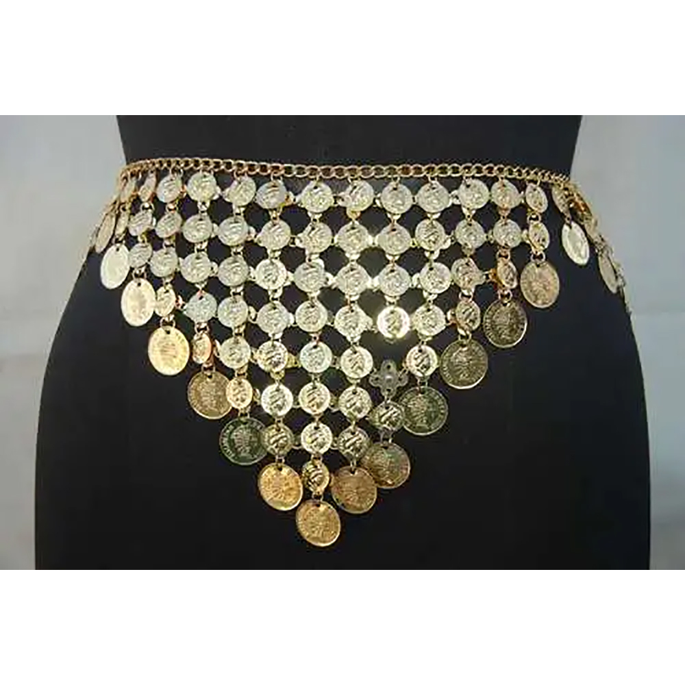 Belly Dance Metal Gold Coin Belt