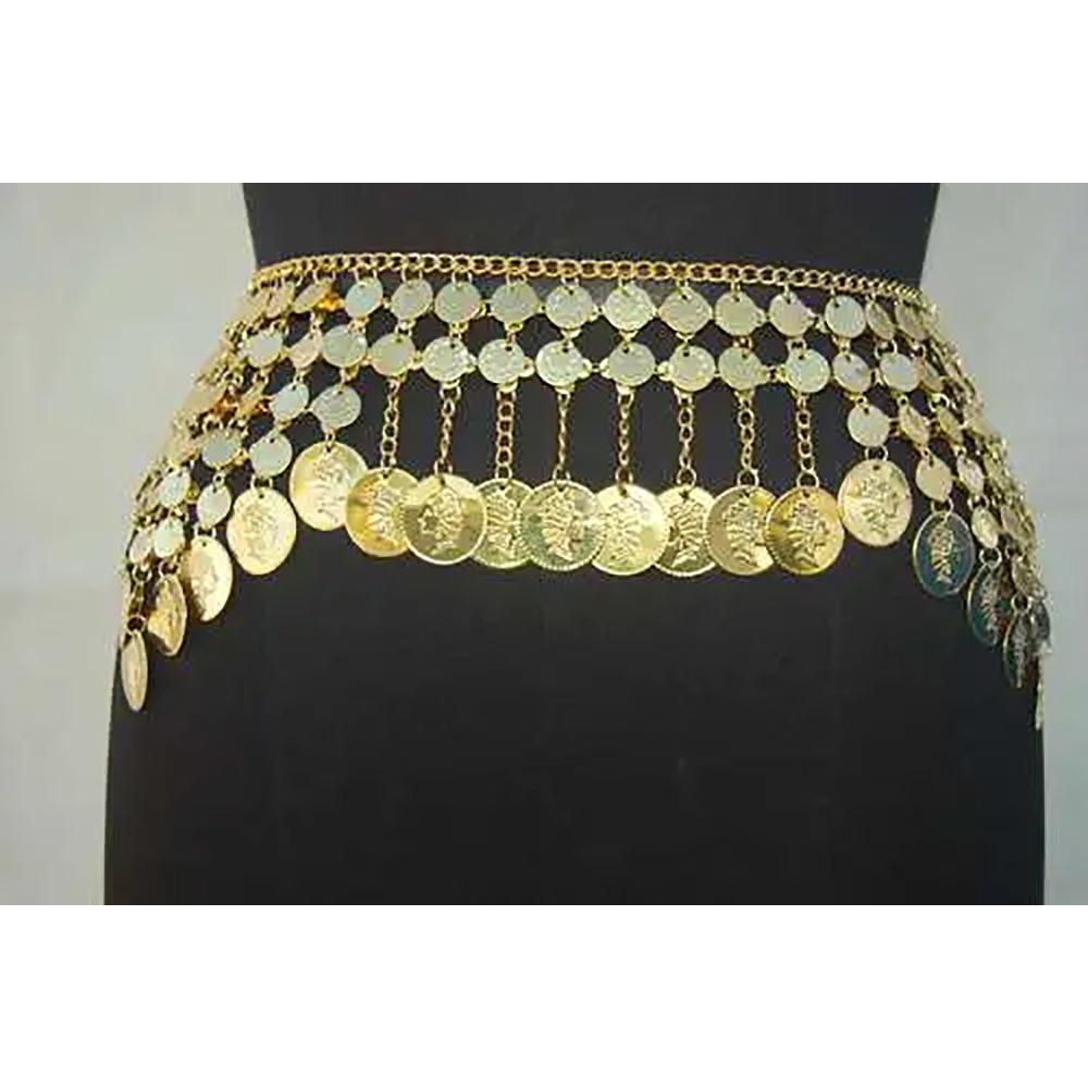 Belly Dance Metal Chain Gypsy Coin Belt