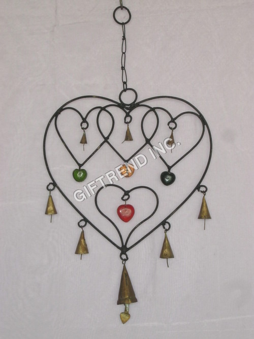 Heart Shaped Wind Chimes