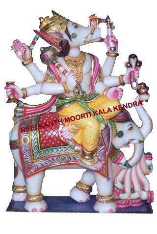 Marble Manibadrh Jain God moorti