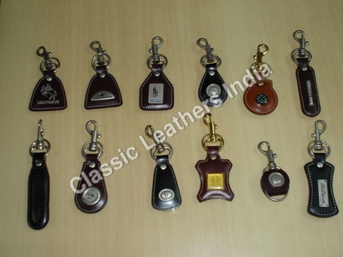Branded Leather Key Chain