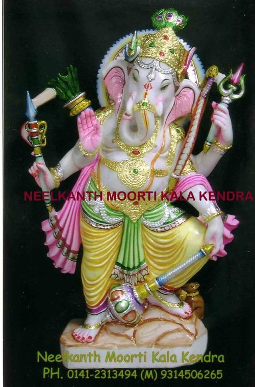 Marble Dancing Ganesh