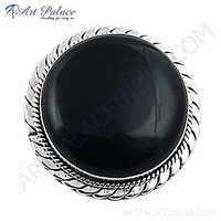 Royal 925 Sterling Silver Black Onyx Gemstone Brooch