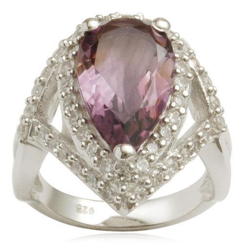 wedding silver jewelry rings, genuine brazil amethyst silver rings