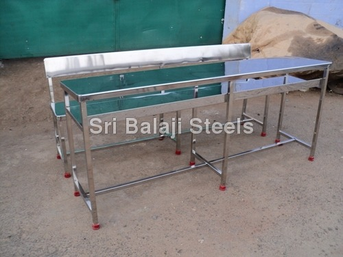 Stainless Steel School Desk Bench