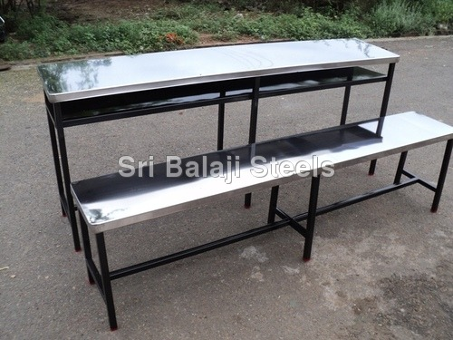 Steel and stainless steel Bench