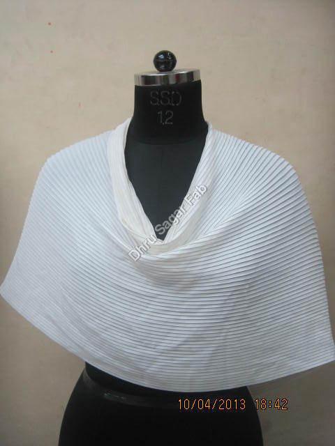 Polyester Bright Crape Dyed Pleated fabrics