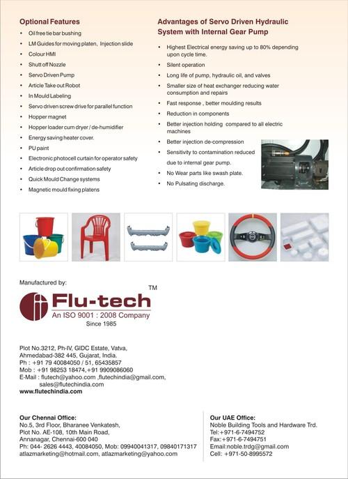 INJECTION MOULDING MACHINE - Flu-tech, 3212, Phase-IV, GIDC