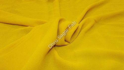 Orange Georgette Dyed fabrics