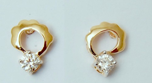 single piece diamond earring jewellery, diamond jewellery wholesaler