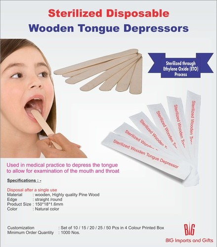 Sterilized Wooden Tongue Depressors