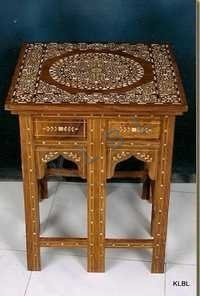 Bone inlaid Square Table