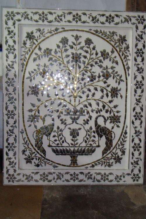 Handmade Thikri Glass Panel