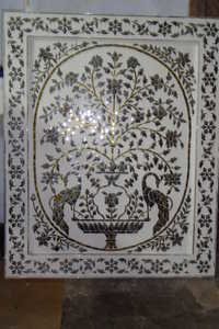 Handmade Thikri Glass Panel