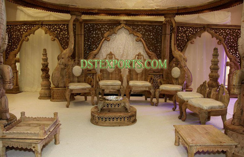 INDIAN WEDDING WOODEN ELEPHANT STAGE