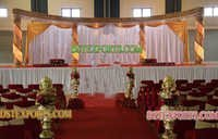 NEW WEDDING GOLDEN CRYSTAL STAGE SET