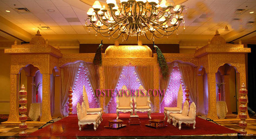 New Wedding Golden Jodha Akbar Mandap