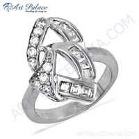 Hot! Dazzling Cubic Zirconia Gemstone Silver Rings