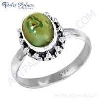 Ingenious Turquoise Gemstone Silver Rings