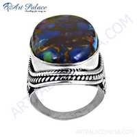 Inspired Blue Opal Turquoise Gemstone Silver Designer Ring