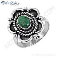 Precious Antique Designer Turquoise Gemstone Silver Ring