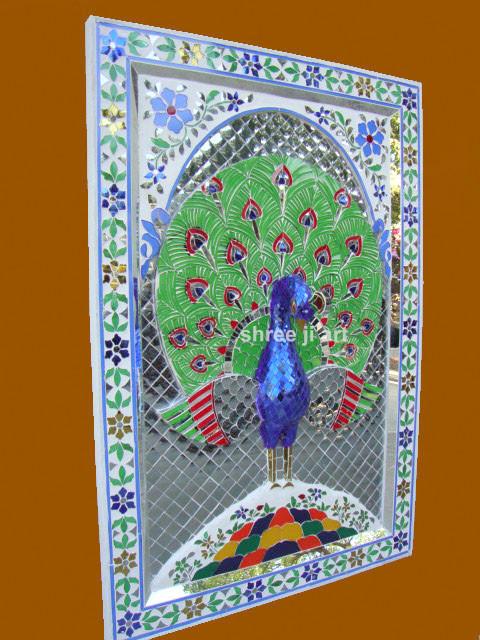 Glass Inlay Work Peacock