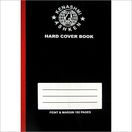A4 Black Hardback Plain Notebook