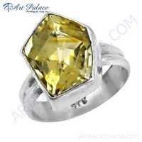 Impressive Citrine Gemstone Silver Ring, 925 Sterling Silver Jewelry