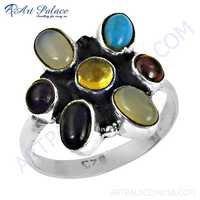 Wholesale Various Stylish Multi Gemstone Silver Rings