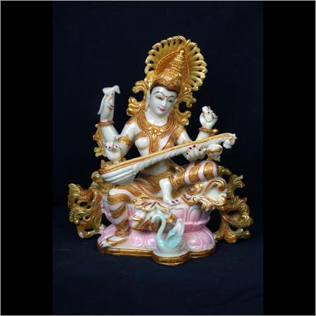 Polyresin Goddess Saraswati Statue