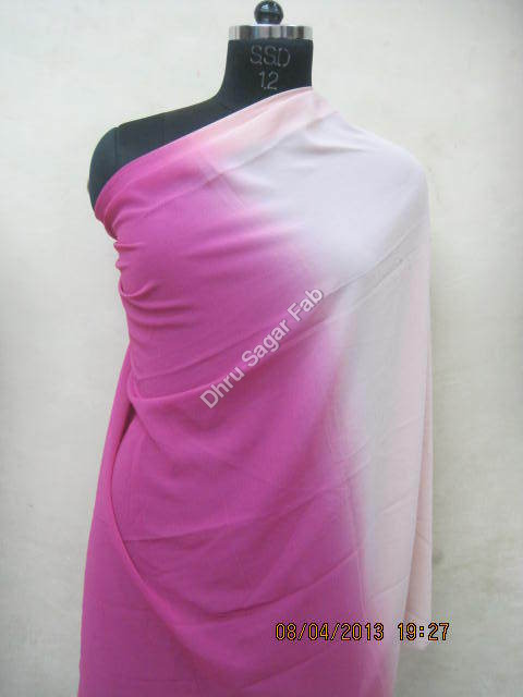 Polyester Georgette Shaded Ombre Print fabric