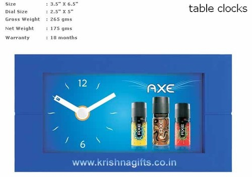 Clock with branding