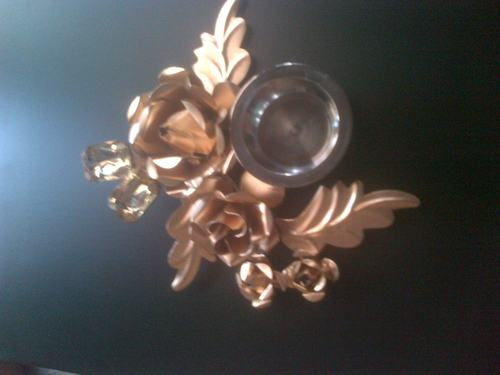 Golden Plated Candle Holder