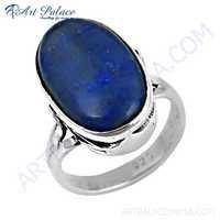 Impressive Lapis Lazuli Gemstone Silver Ring
