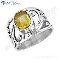 Ready To Wear Citrine Gemstone Silver Ring