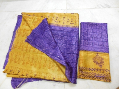 fine tussar silk suits with worli prints