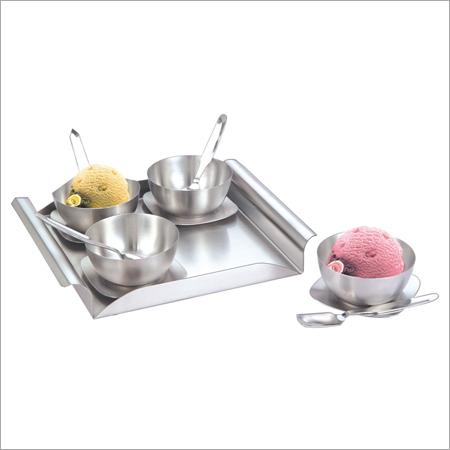 Steel Dessert Set