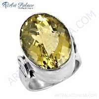 Ultimate Citrine Gemstone Silver Ring, 925 Sterling Silver Jewelry