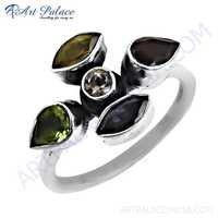 Wholesale Handmade Multi Gemstone Silver Ring