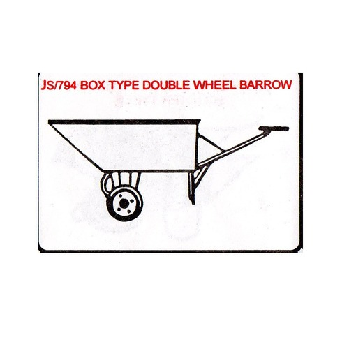Box Type Double Wheel barrow