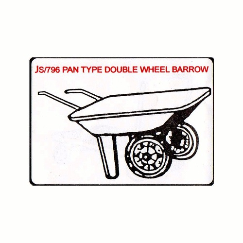 Pan Type Double Wheel Barrow