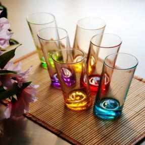 Coloured Crystal Glasses