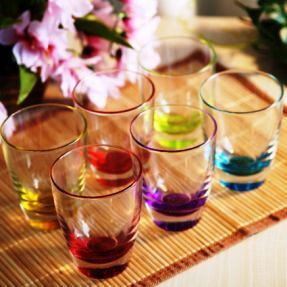 Coloured Crystal Glass Glassware