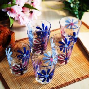 Printed Coloured Crystal Glasses