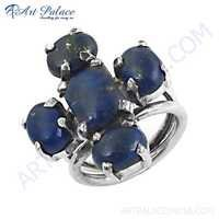 Newest Style Lapis Lazuli Gemstone Silver Ring