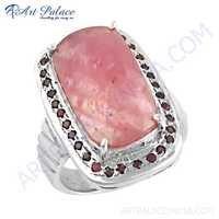 Truly Designer Ruby Gemstone Silver Ring