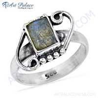 New Antique Labradorite Gemstone Silver Ring