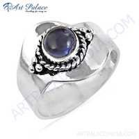 Vintage New Design Amethyst Gemstone Silver Ring
