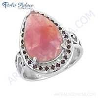 Expensive Ruby Gemstone Silver Ring