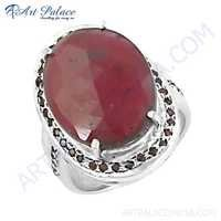 Fabulous Ruby Gemstone Silver Ring